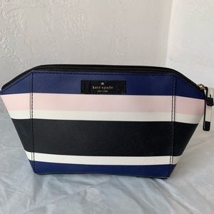 Kate Spade ♠️ Striped Cosmetic Bag
